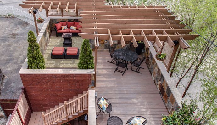 Flat Roof Additions With Deck On Top Google Search In