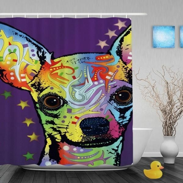 Chihuahua Purple Shower Curtains Decorative Waterproof Polyester Fabric Bath Sho  https://www.bonanza.com/listings/Chihuahua-Purple-Shower-Curtains-Decorative-Waterproof-Polyester-Fabric-Bath-Sho/522553732