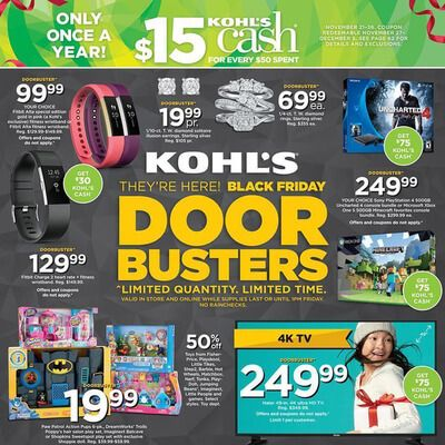 View the Kohl's Black Friday 2016 Ad with Kohl's deals and sales