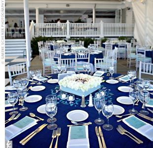 Navy Table Setting