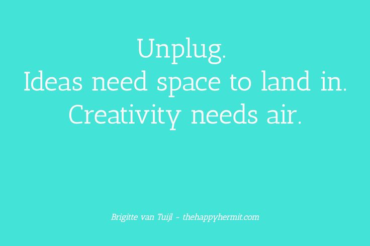 Your productivity soars when you regularly unplug. Your creativity, too. That's not the only reason to do it. But I do have your attention now ;-)