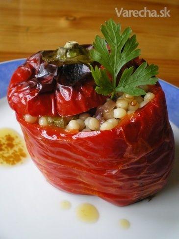 Červené papriky plnené tarhoňou (fotorecept)