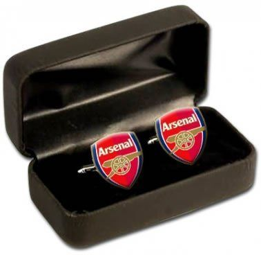 Arsenal FC Cufflinks by Arsenal. $17.49. Arsenal. Show Your Support For Arsenal Fc With These Superbly Detailed Cufflinks Which Are Ideal For All Gooners. These Arsenal Football Club Cufflinks Measure Approximately 1.5Cm X 2Cm And Come In A Smart Gif