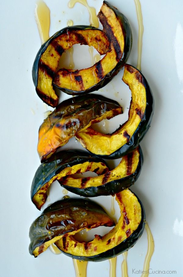 Grilled Honey Acorn Squash