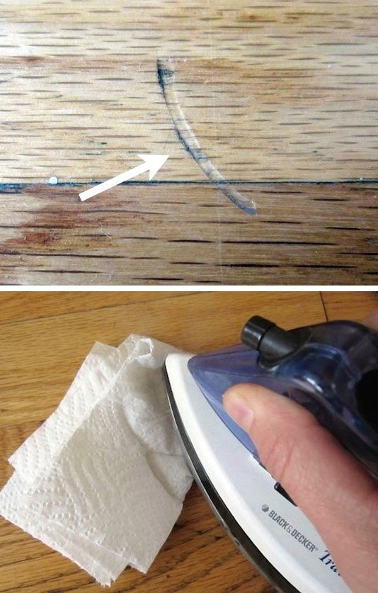 How to fix a dent in wooden floors or furniture! -- 23 Mind-Blowing Hacks You Will Want To Share On Facebook