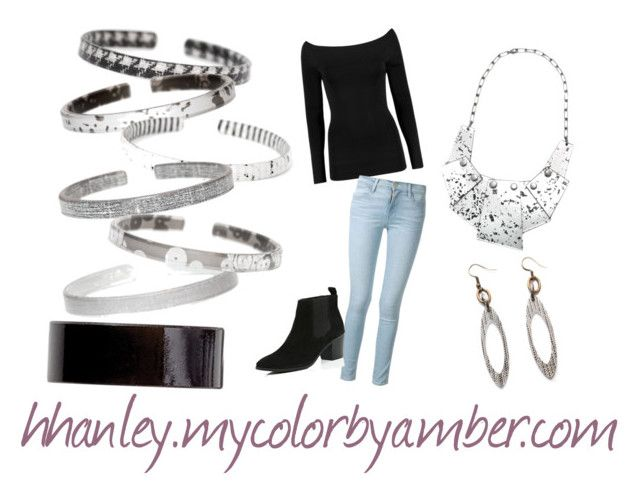 """""""Color by Amber 18"""" by hhanley-colorbyamber on Polyvore featuring Frame Denim and River Island"""