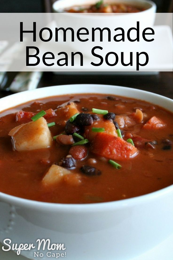 Delicious Stick to Your Ribs Homemade Bean Soup. This hearty, homemade soup will have them coming back for seconds. #souprecipes #recipes #homemade via @susanflemming