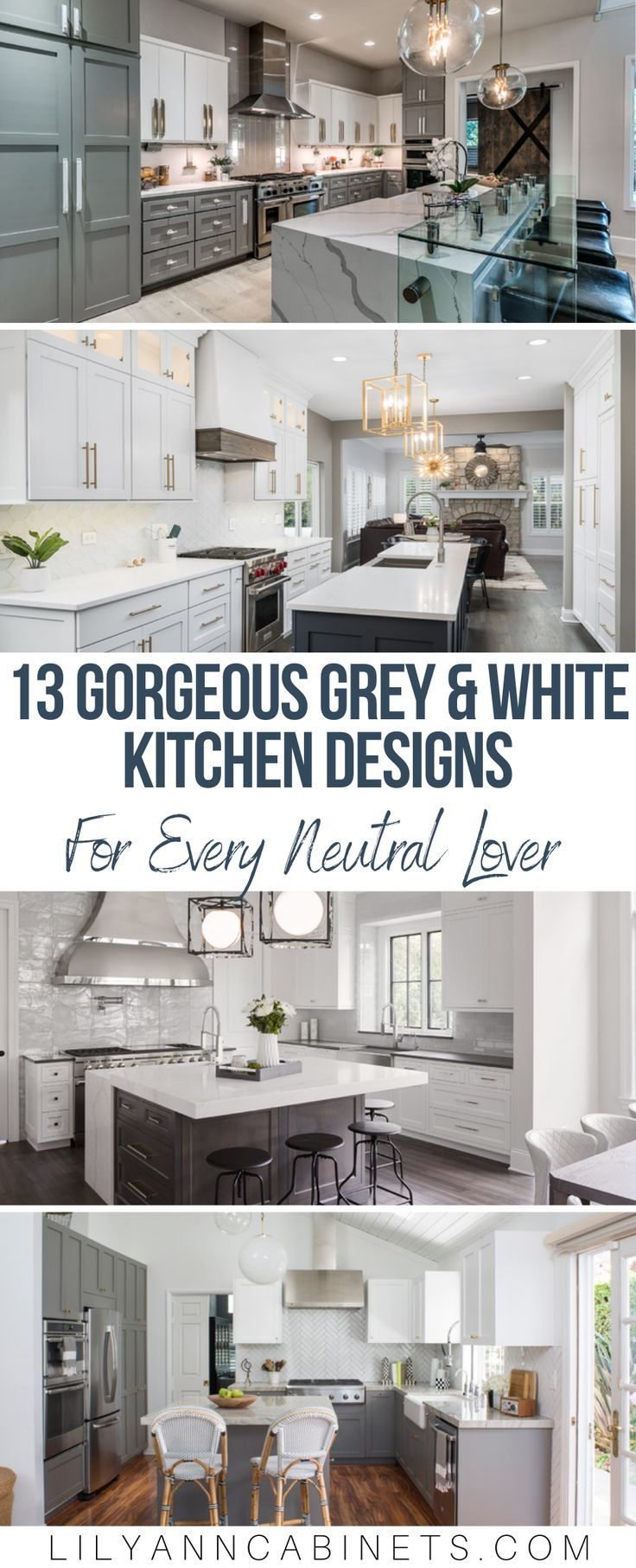 Neutral Noteworthy 13 Grey And White Kitchen Designs White Kitchen Design Kitchen Design Kitchen Inspiration Design