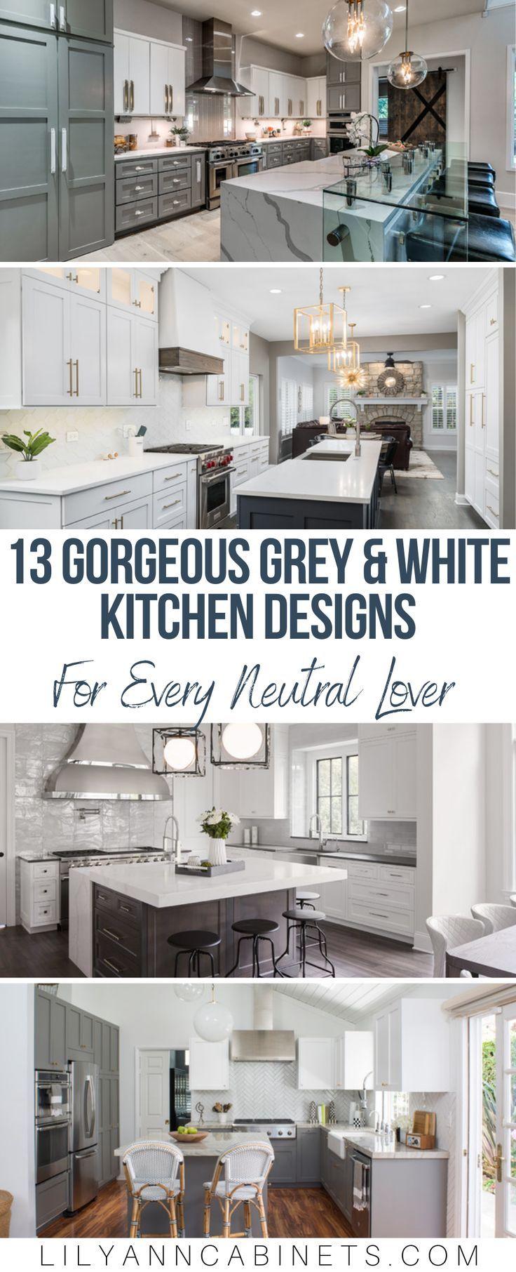 Neutral Noteworthy 13 Grey And White Kitchen Designs Kitchen