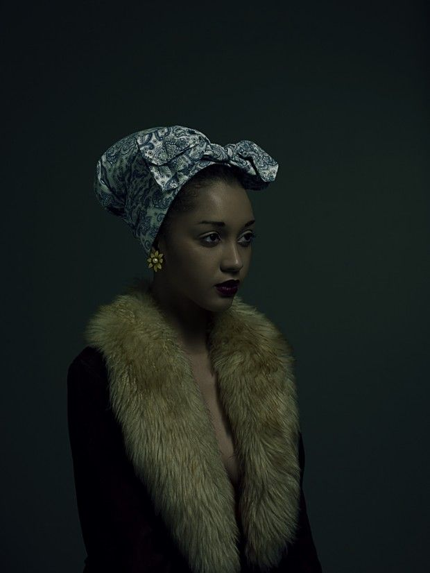Nargis by Paul Cocks & Kate Desmarais: Fur Coats, Paul Cock, Head Scarfs, Dark Photography, Head Wraps, Hair Makeup, Dark Lips, Scarves, Kate Desmarai