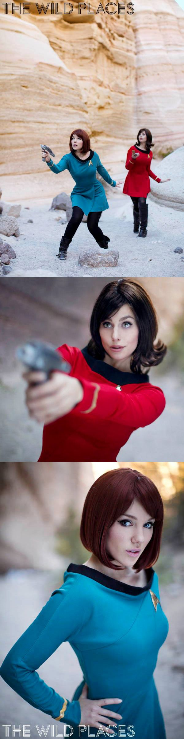 @Anna_photo's 2013 The Wild Places New Mexico Star Trek Photoshoot with Meagan Marie and Cupcake Disko Cosplay