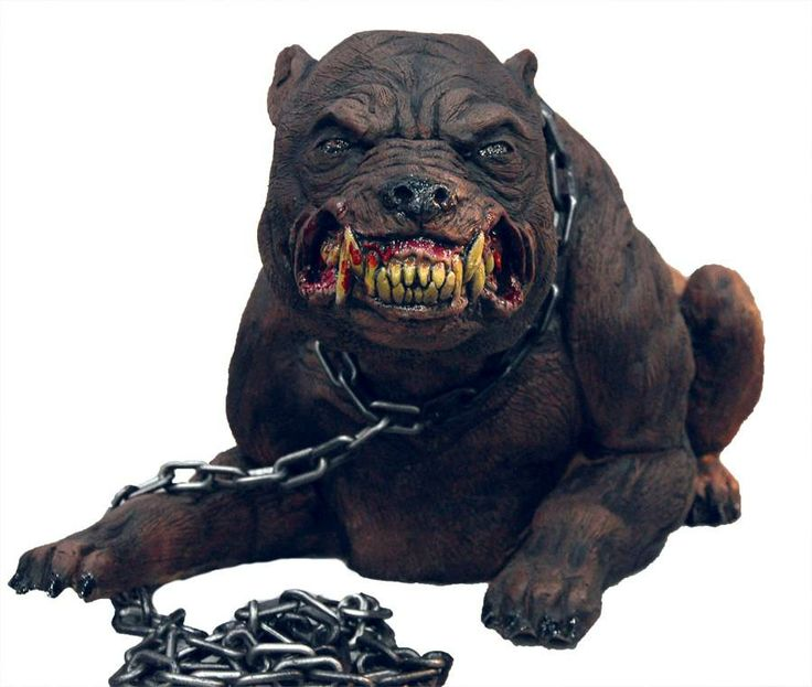 rabid mad dog animated halloween horror prop highly collectible see video