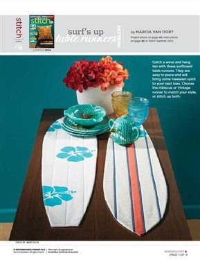Surf's Up Table Runners - Media - Sew Daily