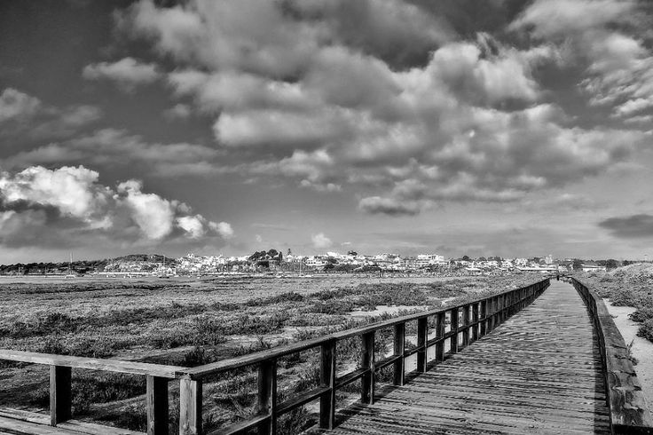 Alvor Algarve - Portugal (W&B)  #Portugal #Alvor #monochrome #landscape #sky #people #travel #traveling #visiting #instatravel #instago #city #street #cloud #beach #outdoors #sea #winter #light #cropland #sunset #storm #road #fcleal