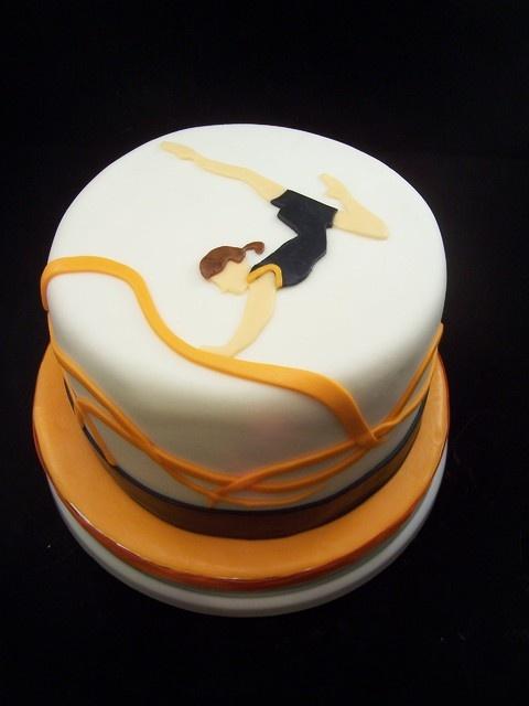 Gymnastics Cake @Fellow Fellow Cameron your next g'day cake!