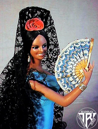 I had one in red. Loved this doll!