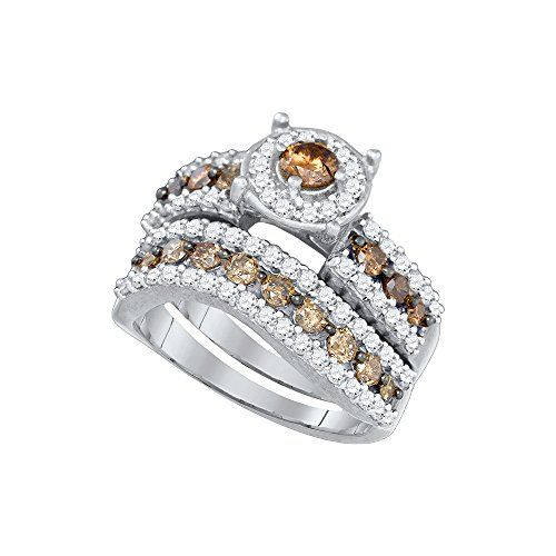 10kt White Gold Womens Round Cognac-brown Colored Diamond... https://www.amazon.com/dp/B071HH2GW1/ref=cm_sw_r_pi_dp_x_bnNWzb8B25WRF  Sizing Available