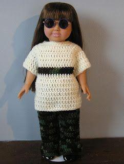Bella Bambina Knits: American Girl Camo Top