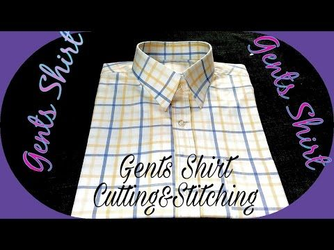 Gents shirt cutting and stitching in Hindi - YouTube