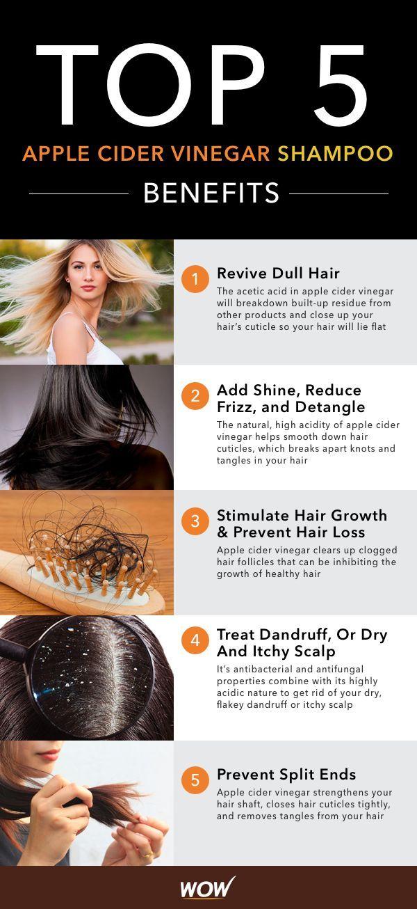 WOW Apple Cider Vinegar Shampoo reverses hair falling, stops split