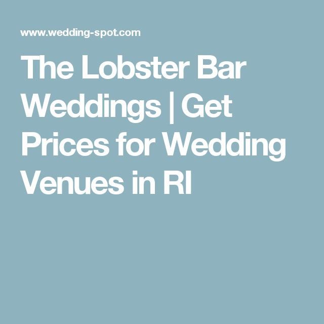 The Lobster Bar Weddings | Get Prices for Wedding Venues in RI