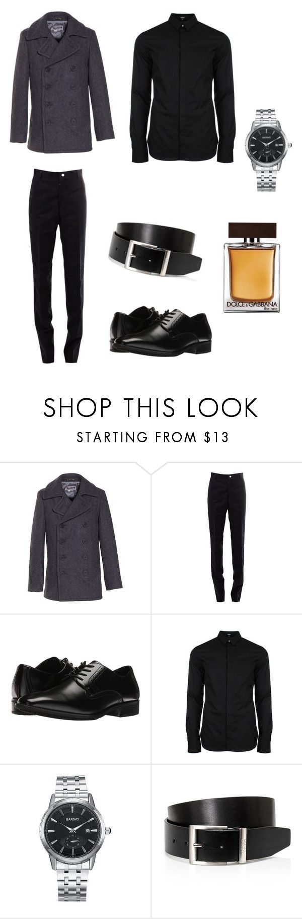 going out by adam-reed on Polyvore featuring Versus, Thom Browne, Schott NYC, Stacy Adams, HUGO, Dolce&Gabbana, men's fashion and menswear