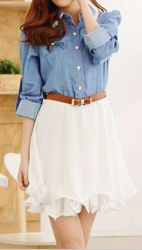 more pretties. I like the combination of colours and textures; the soft, denim-esque blue and the light, flow-ey white.