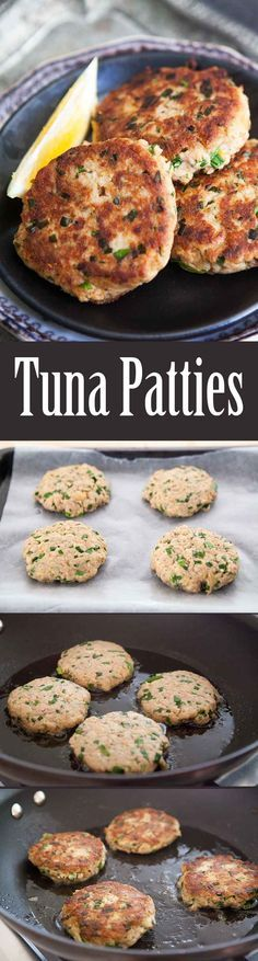 Quick EASY healthy Tuna Patties! Easy to make, and easy on the budget. Best thing you can make with canned tuna. Your kids will LOVE them. On SimplyRecipes.com (Baking Salmon Bread Crumbs)
