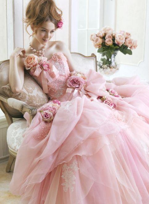 abito da sposa rosa Yumi Katsura