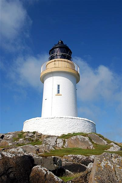 PORT CHARLOTTE lighthouse. Isle of Islay .Scotland