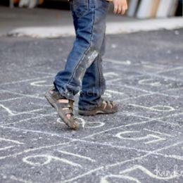 Stoepkrijt spelletjes tel doolhof leren tellen 2 I Creatief lifestyle blog Badschuim