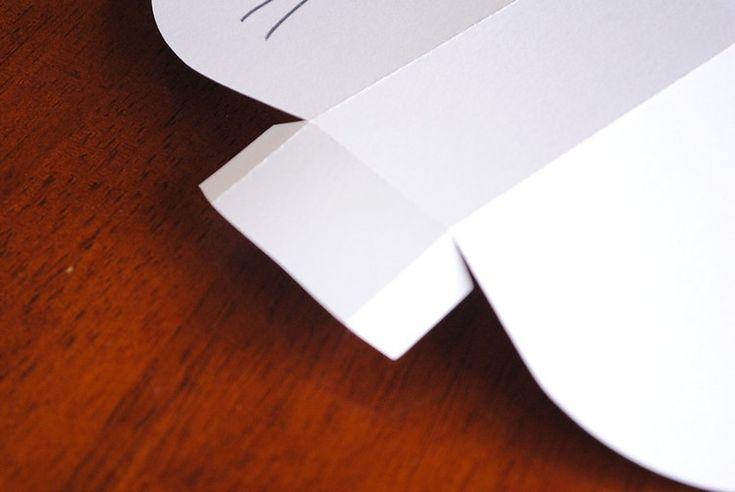 Osterhasen basteln papier-bonbontuete-tonkarton