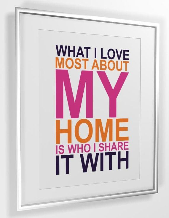 Quote print What I Love Most About My Home A4 or A3 by MiraDoson, $2.00