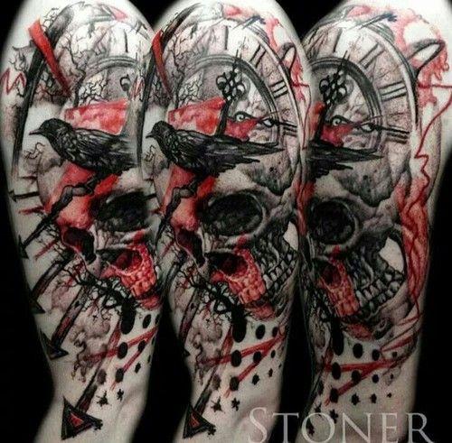 Trash Polka Skull By Mcrdesign On Deviantart: 1000+ Ideas About Trash Polka Art On Pinterest