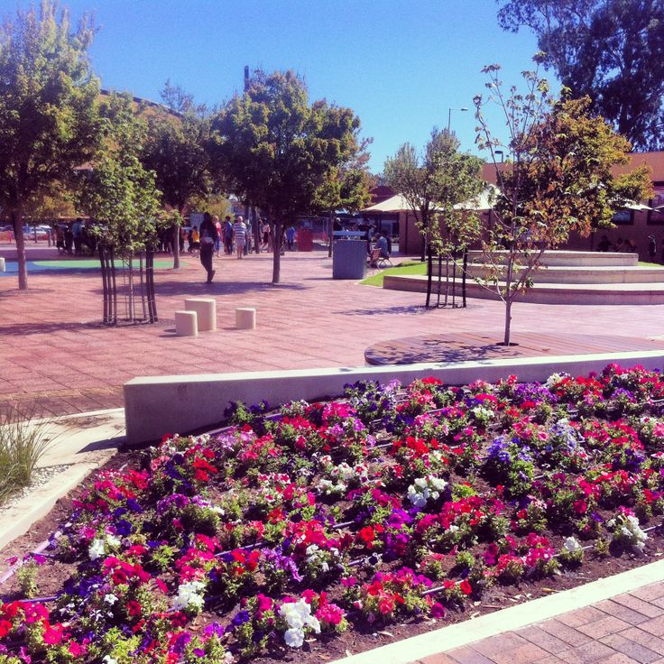 The renewed Civic Saure was launched on 22 Feburary 2014 #5108. The new square includes a playground, water features, new trees and colourful flowers. There are plenty of places to sit in the open or under shade. #renewal @Rachel Gladis of Salisbury South Australia. Photo by @Andrew Coulson