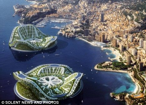 Self contained floating city inspired by lily pads - My Modern Metropolis