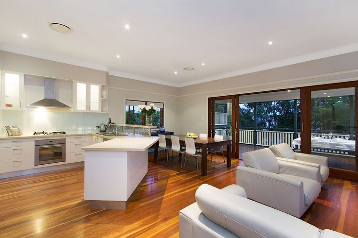 CAMP HILL 37 Brisbane Avenue... Beautifully finished throughout, this five bedroom home was cleverly engineered for the growing family and creatively built to blend new modern design with classic original Queensland features.
