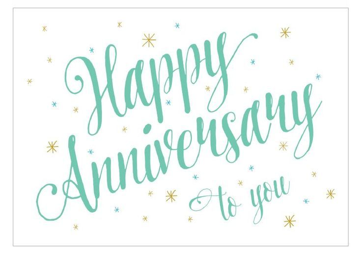 16 Stylish Anniversary Cards You Can Print for Free: Anniversary Script from Greetings Island