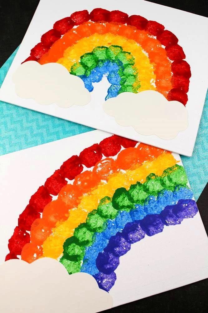 Rainbow Art And Craft St Patrick Day Activities St Patricks Crafts Butterfly Crafts Preschool Rainbow art activities for preschoolers