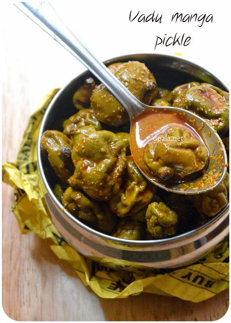 Vadu manga/Tender mangoes pickle http://www.upala.net/2015/05/vadu-manga-picklemaavadu-pickle.html