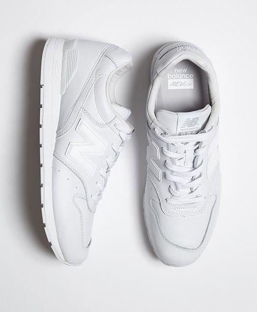 All White New Balance