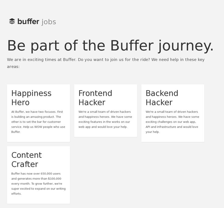 Website 'http://jobs.bufferapp.com/' snapped on Snapito!