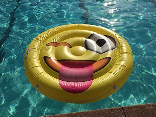 Emoji Swimming Pool Float | Tongue Wink Emoticon | Huge 60 Inch Raft | So Cool For Pool Parties -  http://www.trendingviralhub.com/emoji-swimming-pool-float-tongue-wink-emoticon-huge-60-inch-raft-so-cool-for-pool-parties/ -  - Trending + Viral Hub