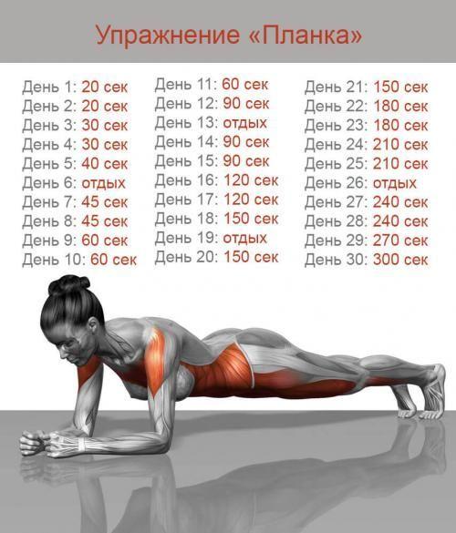 упражнения на полу для похудения