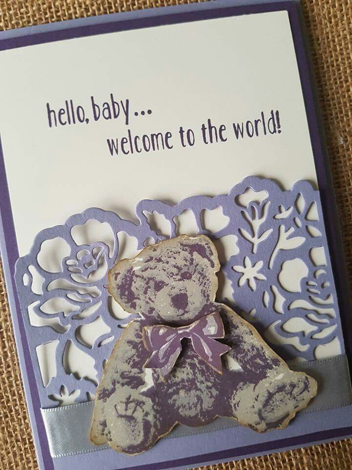 SU-Delicate Floral thinlits; Baby Bear stamp. (Pin#1: Babies...).
