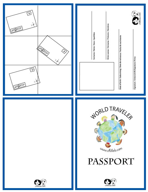 Juicy image throughout printable passport for kids
