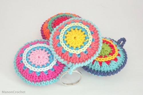 Crochet mandala keychain/gehaakte mandala sleutelhanger - ManonCrochet
