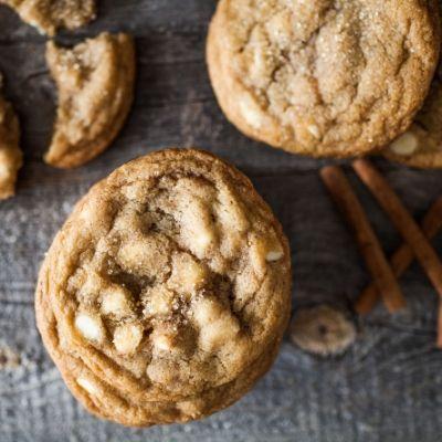 Les cookies au chocolat blanc façon «Eggnog».