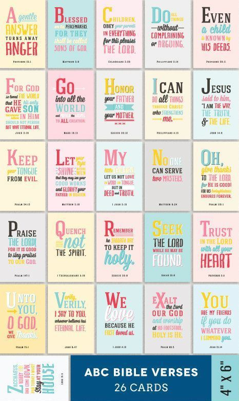 This says BIBLE VERSES FOR CHILDREN, but I think we ALL should carry a set with us.