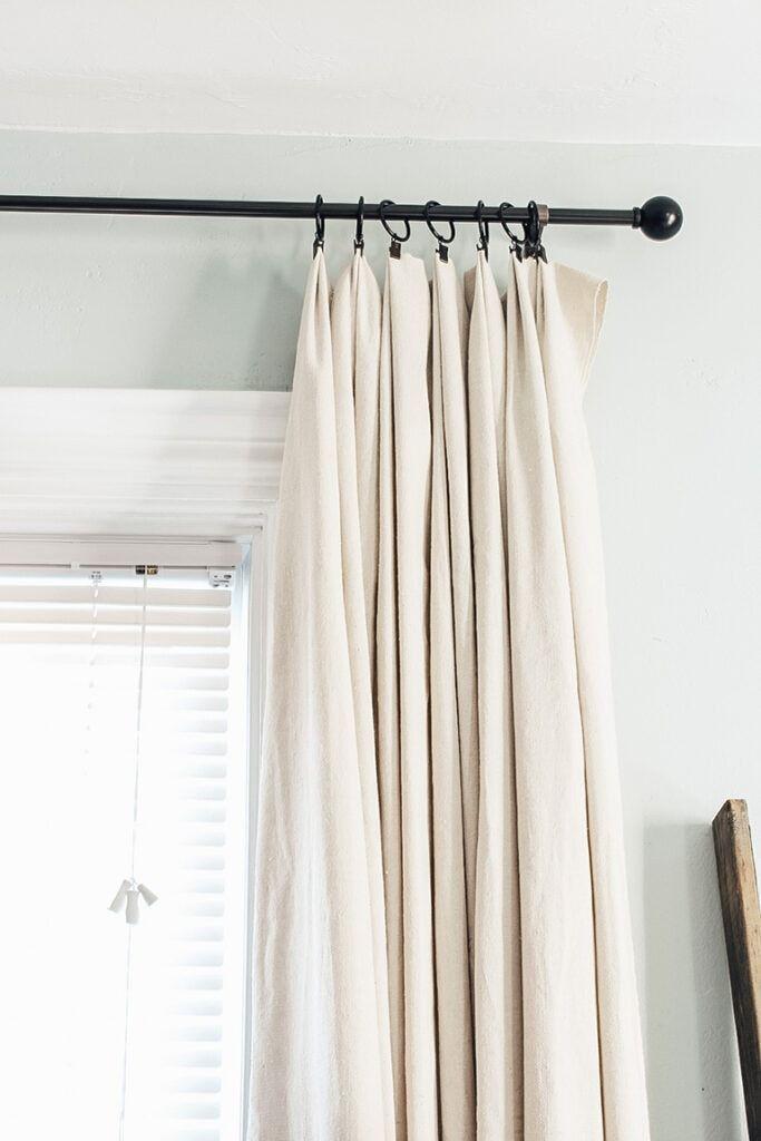 Diy Farmhouse Style Drop Cloth Curtains 2 Ways In 2020